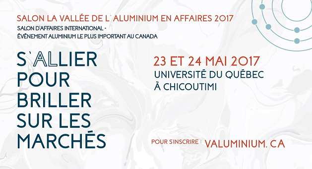 Salon la vall e de l aluminium en affaires 2017 stiq for Salon de l industrie 2017